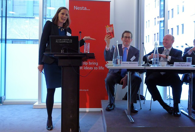 @KirBou introducing Rt. Hon. @LiamByrneMP Shadow Minister for Universities Science and Skills & his book holding by @jameswilsdon from RAW _DSC1800 #NestaChina @Nesta_UK