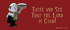 Burger Man Taste and See - Psalm