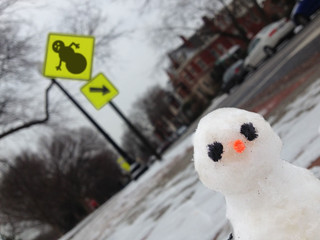 snowman crossing! please yield!!