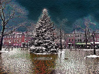 Xmas in Market Square Newburyport