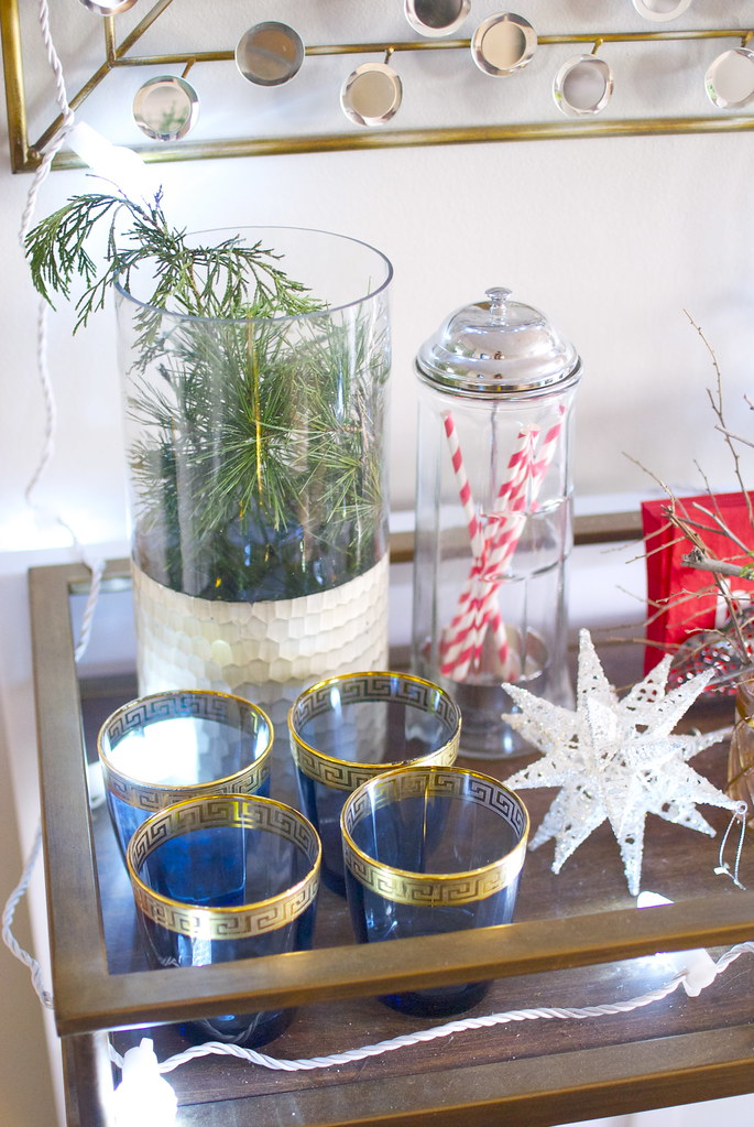 holiday bar cart decorating ideas