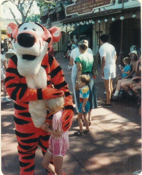 Me and Tigger at Disney