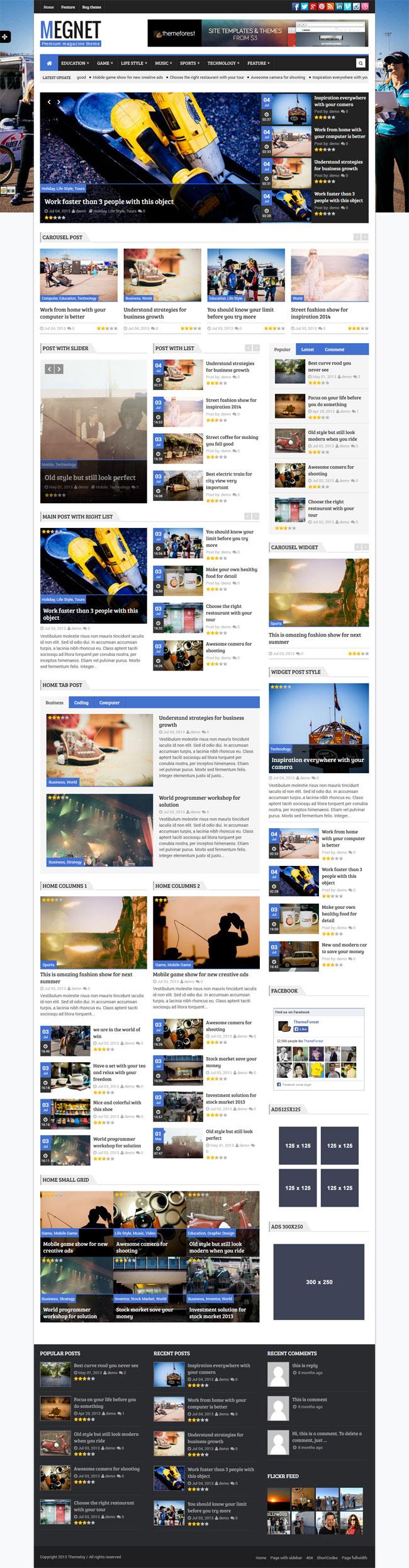 Megnet - WordPress Magazine theme