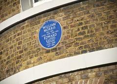 Photo of William Morris and Edward Lloyd blue plaque