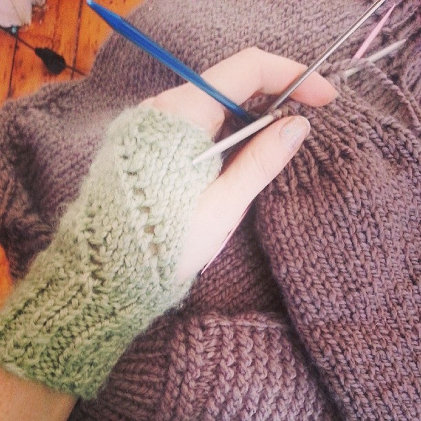 Cuffs on a sweater. #knitting #endinsight