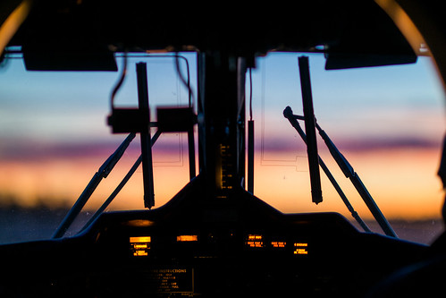 Grand Canyon Sunset Through a de Havilland DHC-6 Twin Otter Airplane Cockpit #twittertuesday