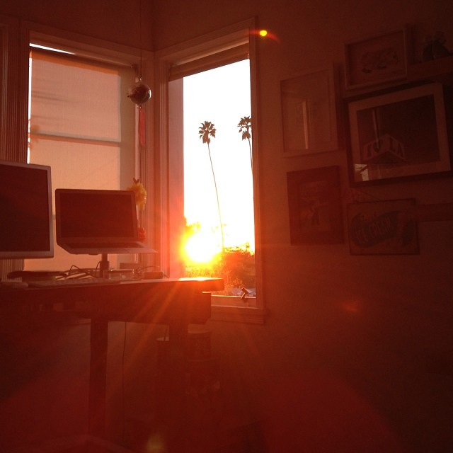 First sunset captured from my desk in 2014. I should stay home more often.