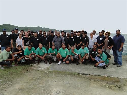 保護洛克群島的科羅州水警隊合照(圖片攝影:陳柏豪)
