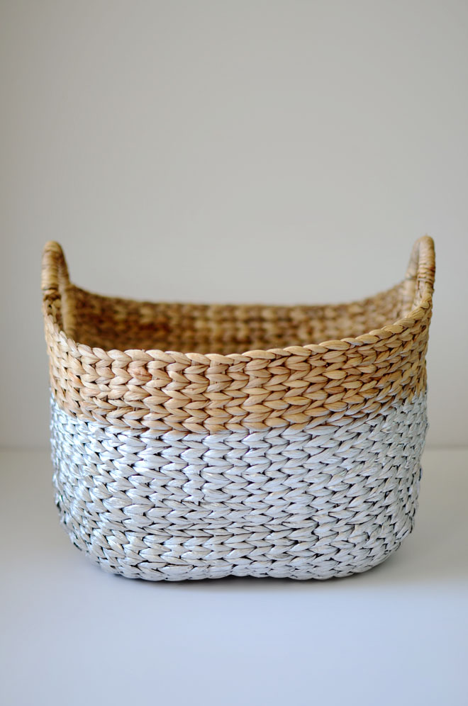 silver dipped basket