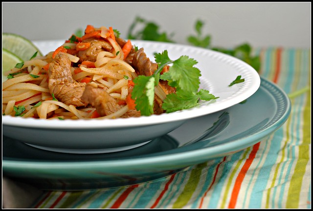 Hoisin Pork with Rice Noodles 1