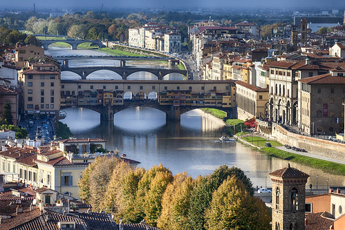 plaza bridge italy river landscape florence italia cityscape fiume ponte firenze roberts piazza arno michelangelo mathew vecchio michaelangelos mathewroberts