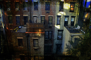 facades outside our window in Manhattan
