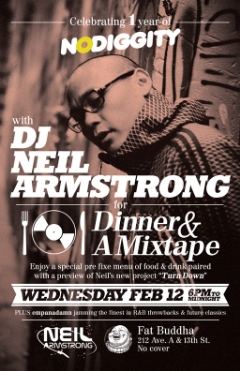 2/12 Wed - join me for Dinner & A Mixtape NYC and preview my new mixtape while ya grub