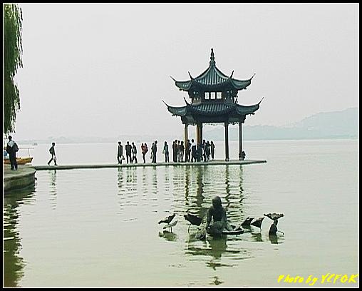 杭州 西湖 (其他景點) - 632 (古湧金門一帶 銅像與湖上的亭)