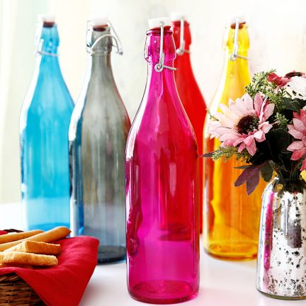 colored glass bottle from fab furnish - Colored Glass Bottles