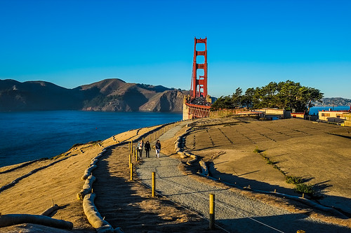 The Golden Gate Bridge near sunset by joeeisner