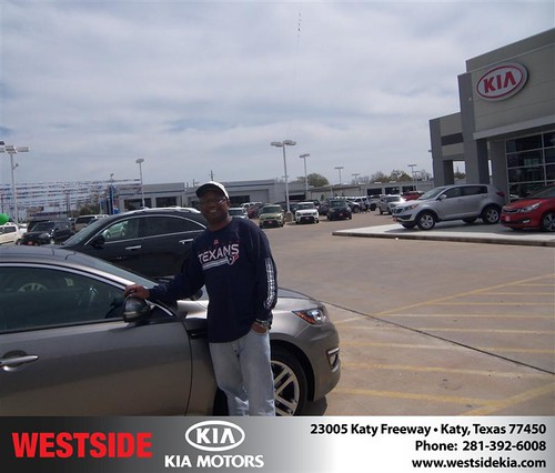 Happy Anniversary to Rodney Moore on your 2013 #Kia #Optima from Jerry Moore  and everyone at Westside Kia! #Anniversary by Westside KIA