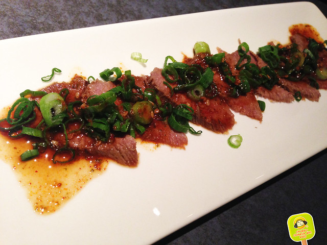 Yakiniku Gen - boiled beef tongue with shiso dressing