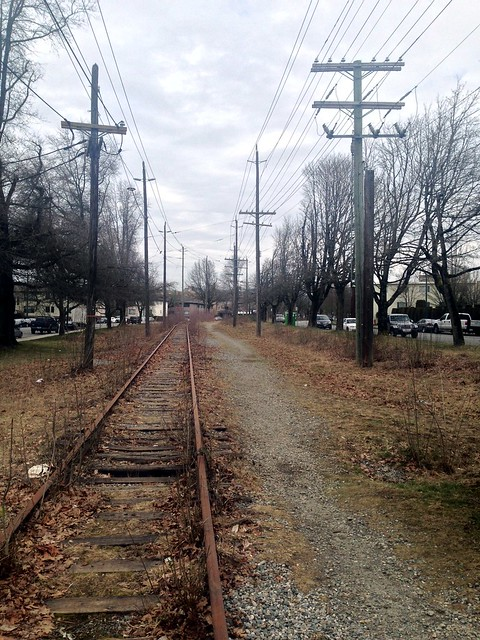 Abandoned tracks in Kerrisdale