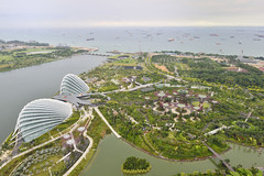 Garden's by the Bay as seen from Marina Bay Sands