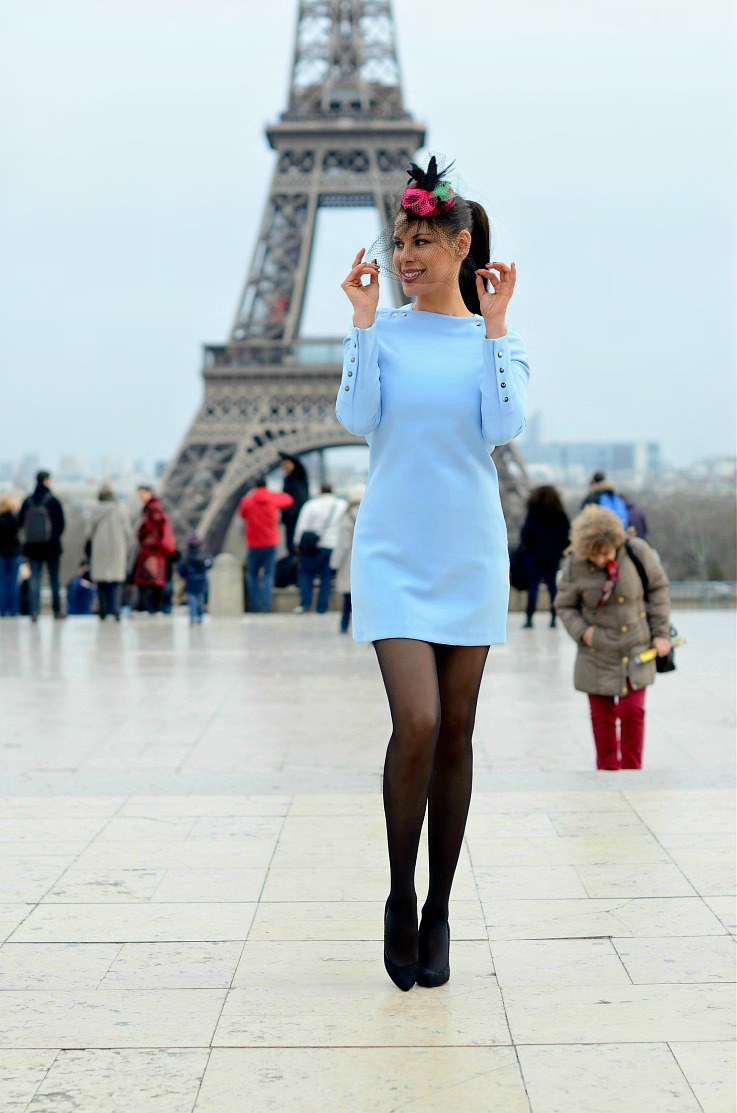 DSC_5893 Baby Blue Zara Dress, Paris, Eiffleltower 2