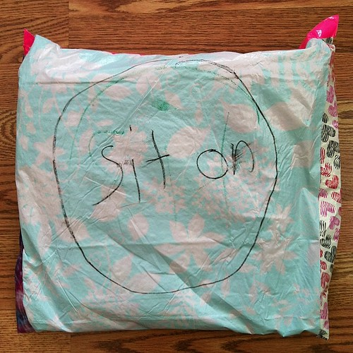 Remember sit upons from #girlscouts? We made them last night at our troop meeting.