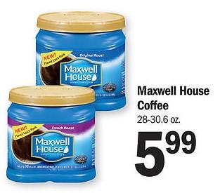image regarding Maxwell House Printable Coupons called $1/1 Maxwell Household Espresso Printable Coupon is Again (0.16/oz