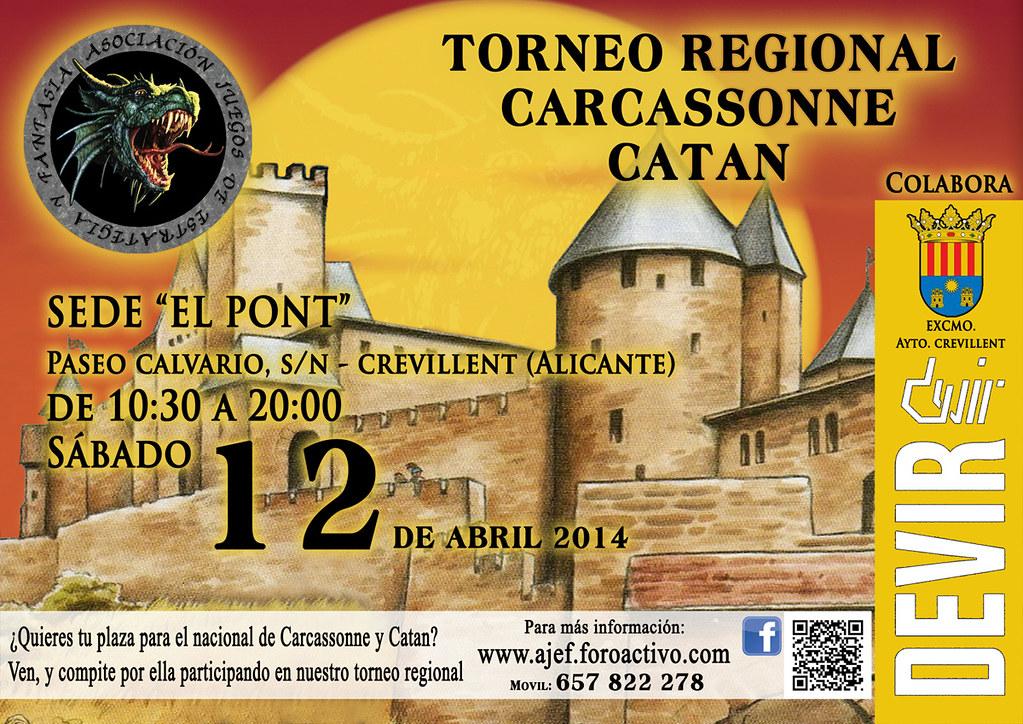 Torneo Regional Carcassonne y Catán (12 Abril 2014).   13226677994_c51894582d_b