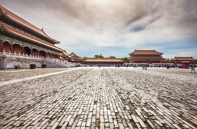 China / Beijing / Magnificient view of the Forbidden City