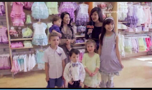 cute & little blog | kids spring fashion tv segment