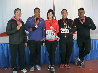 Mei, Arlene, Kelly, Brian and Kevin with their medals