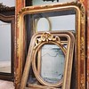 Beautiful antique mirror frames waiting for mirror glass / #frenchstyle #frenchfurniture #mirror #french #antique #interiordesign #gilding #frame