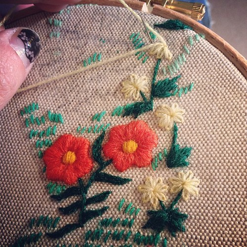 Vasilisa embroidery in progress
