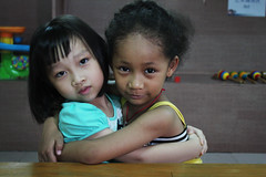 Afro-Asian Amina + Chinese kindergarten friend