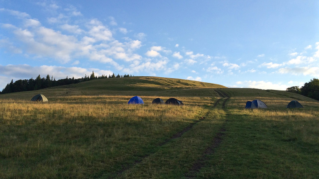 Our tent camp in the Brailka meadow near Bliznica mountain
