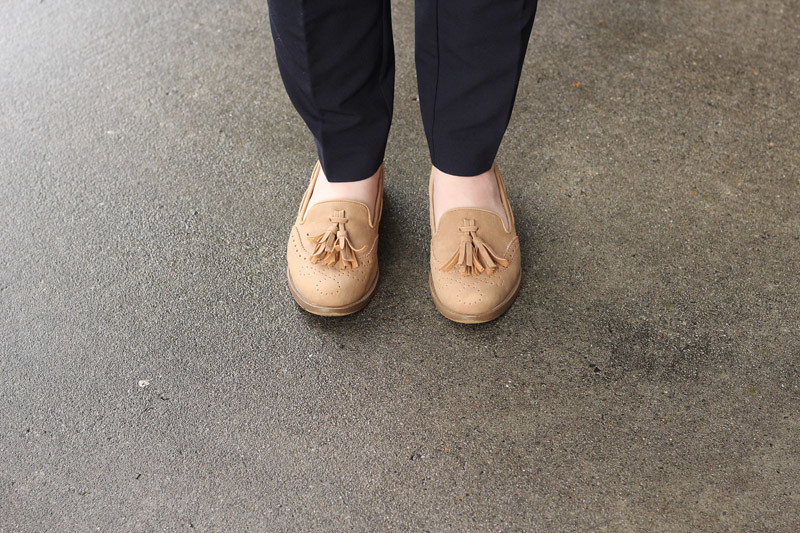 Light Tan Tassel Loafers