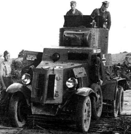 ドイツ捕BA-10ソビエト装甲車