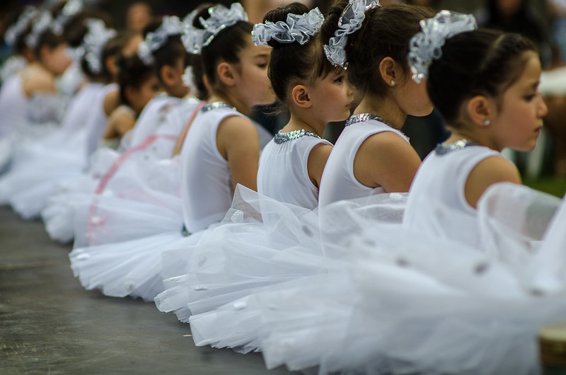 13 June - The ballerinas are ready to perform.