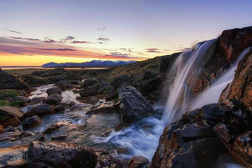 sunset waterfall iceland nikon d750 nikkor halldor hvalfjörður 2015 ingi 1424
