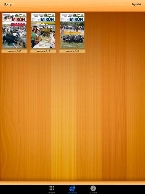 Se muestra el listado de revistas descargadas.