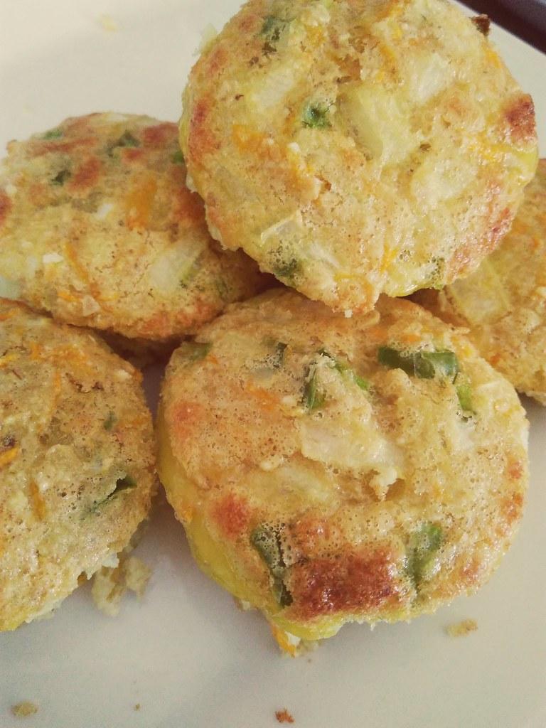 Mini omelete de legumes - Sem Glúten