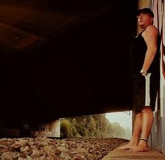 Waiting for something  #dark #black #stone #man #one #person #barefoot #skin #profile