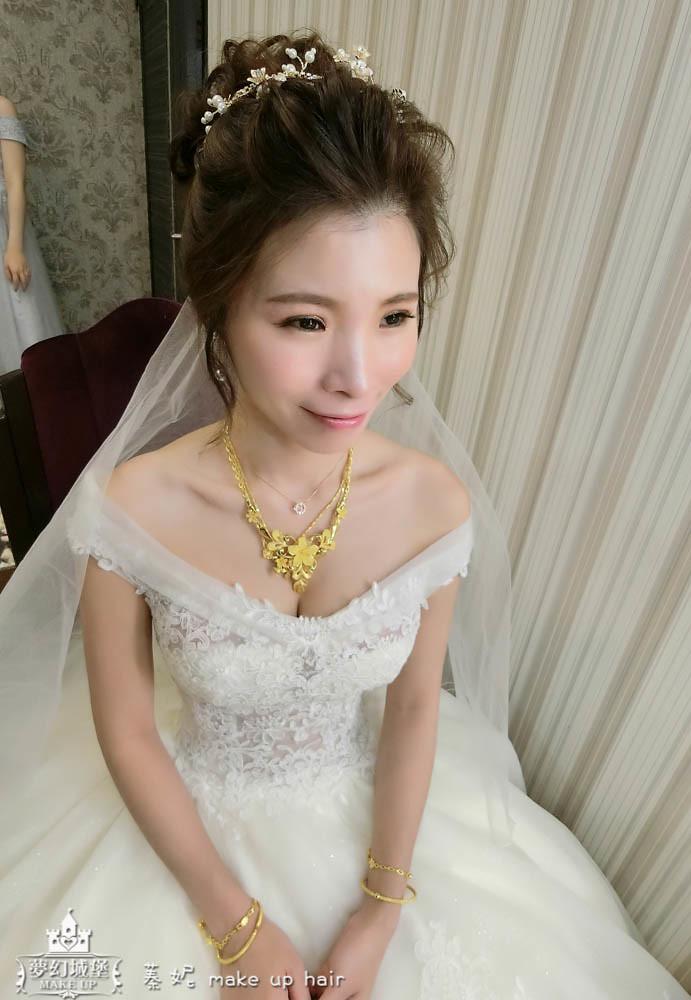 【新秘蓁妮】bride鈴綺 訂結婚造型 / 嘉義船老大喜宴餐廳