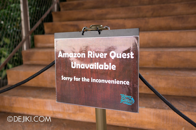 River Safari - Amazon River Quest unavailable