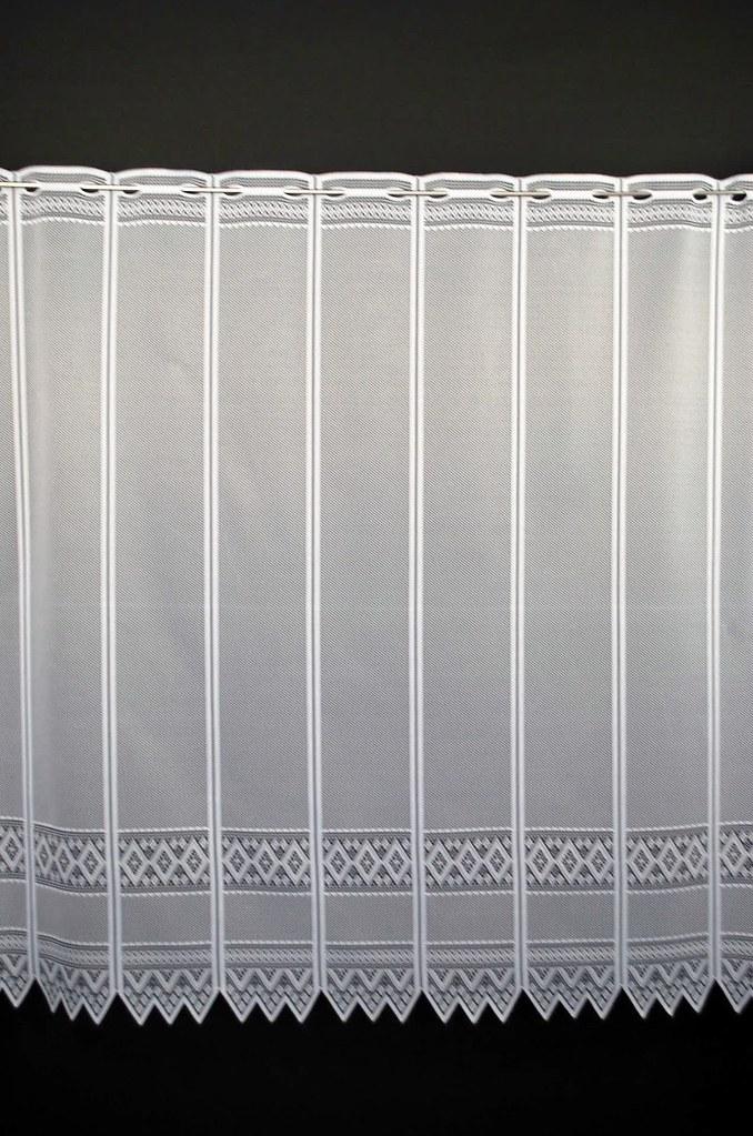 13 cm breite scheibengardine jacquard grafisch 70 cm hoch ebay. Black Bedroom Furniture Sets. Home Design Ideas
