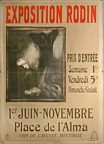 Affiche de l'exposition Rodin en 1900