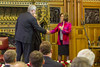 The Lord Speaker, Baroness D'Souza, thanks Prime Minister Harper following his speech