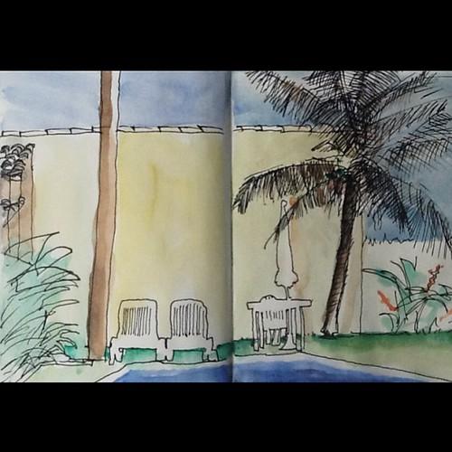...e o melhor do Litoral. Mesmo sem sol, com frio e gripe é bom #litoral #praia #sketchs by Dalton de Luca
