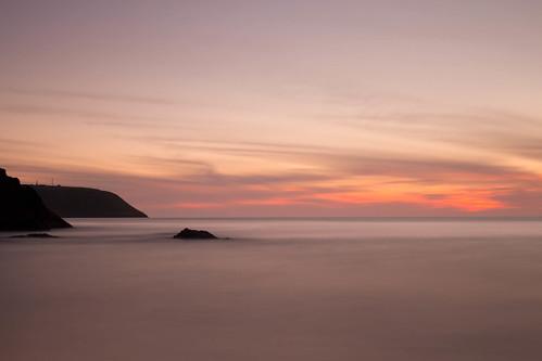 ocean longexposure sunset sky seascape silhouette wales landscape evening coast waves le welsh tresaith 10stopnd bw110nd30