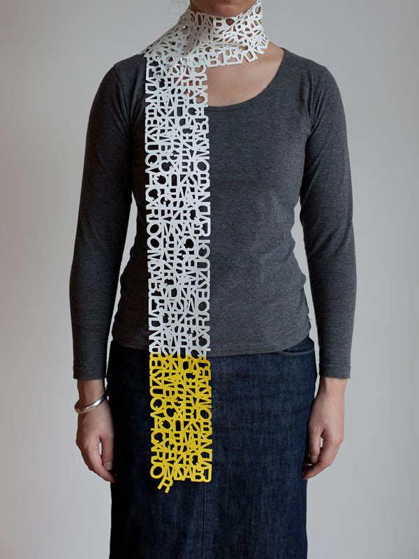 bufandas de tipografía
